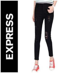 Mid Rise Distressed Jeans   Express   Wome…